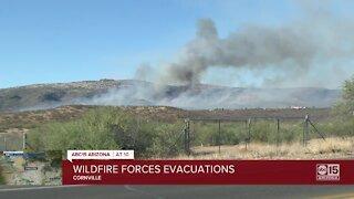 Crews battling 1,000-acre Cornville Fire burning south of Sedona