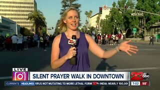 Live from silent prayer in downtown Bakersfield