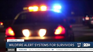 Wildfire alert systems for survivors