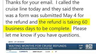 Waiting months for cruise ship refunds