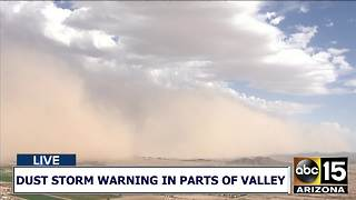 Dust storm rolls through the East Valley 7/5