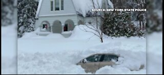 Man recovering after being trapped in car under snow