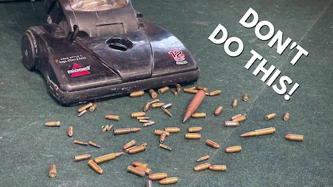 What Happens When you Vacuum Up Live Ammo?!?