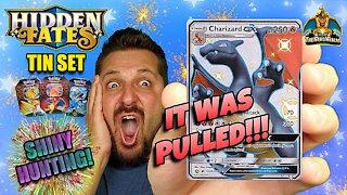 🔥Shiny Charizard Pulled!🔥 Hidden Fates Tin Set #4 | Shiny Hunting | Pokemon Cards Opening