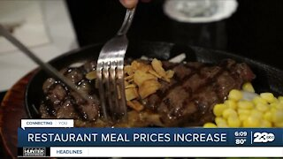 Restaurant meal prices increase