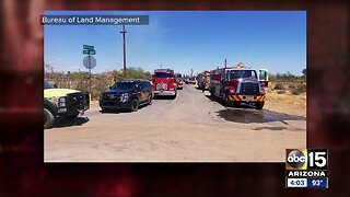 White Wing Fire burning near Wittmann grows to 500 acres