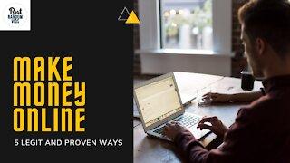 FREE 5 Legit Ways to Make Money Online