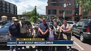 Boy Scout hosting bicycle drive