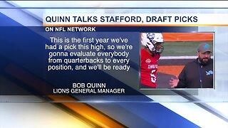 Bob Quinn talks Lions No. 3 pick, Stafford future