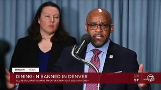 All Denver restaurants, bars to stop dine-in options beginning Tuesday through May 11