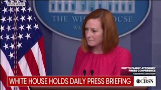 Psaki Doesn't Think Biden's Constant Cough Is A Concern