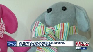90-Year-Old Woman Makes Stuffed Animals For Kids In Need