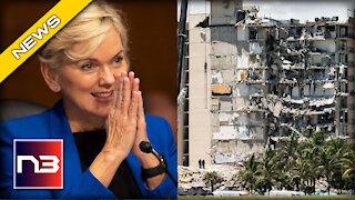 REDICULOUS. Biden Energy Sec SOLVES Miami Building Collapse With CRAZY Reason