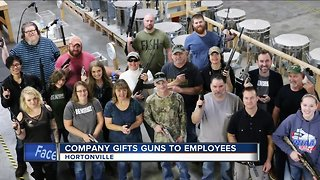 Wisconsin business gives employees handguns as Christmas gifts