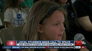 Local students call space station at NASA event