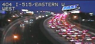 Crash closes northbound US 95 near Spaghetti Bowl