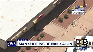 Man shot inside nail salon