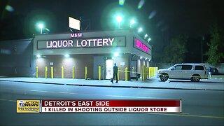 Man killed in shooting outside liquor store