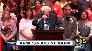Bernie Sanders speaks in Phoenix