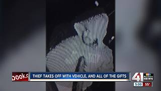 Family car stolen with Christmas presents for 9 children inside