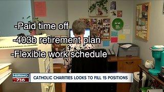 Catholic Charities hiring 15 employees