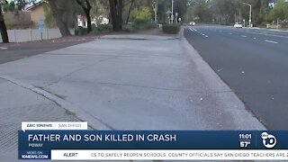 Father, son killed in crash leaving Poway High School