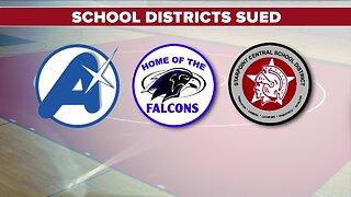 High school wrestler sues three school districts
