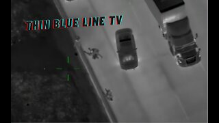 100+ MPH Police Chase Of Felony Suspect Ends In Crash and Foot Bail Pursuit