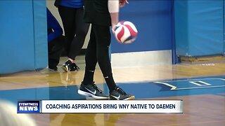 Aspiring coach brings volleyball career to Western New York