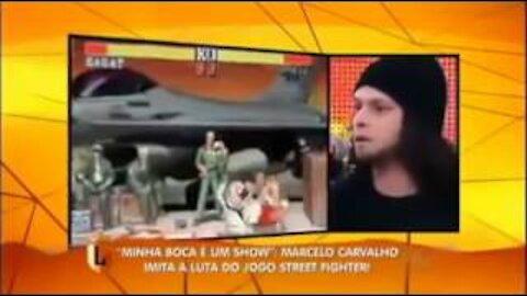 Sagat vs Ryu: Man making sound effects (Street fighter)