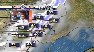 Snow and drizzle tonight