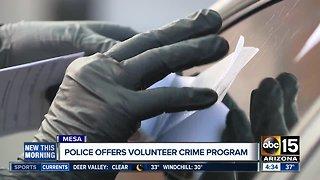 Mesa police offer volunteer crime scene specialist position