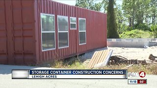 Resident is concerned over storage container home construction