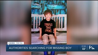 Authorities searching for missing boy