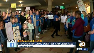 San Marcos teachers rallying over pay and class size