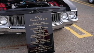 Classic cars on display at the R.E. Olds Transportation Museum's Car Capital Auto Show