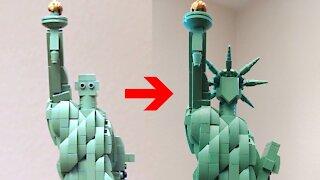 Lego Statue of Liberty Build
