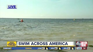 Hundreds take to the water for Swim Across America
