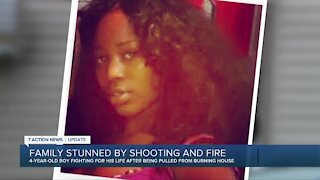 Family shocked by shooting & fire that killed woman, hurt 4-year-old