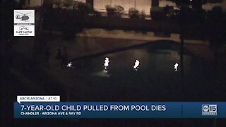 7-year-old dies after pulled from pool in Chandler