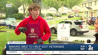 Making BBQ to help out veterans