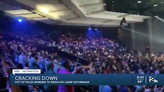 City of Tulsa working to regulate large gatherings
