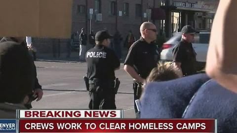 Denver removes large homeless camp
