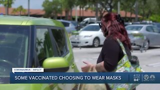 Should vaccinated people still wear face masks?