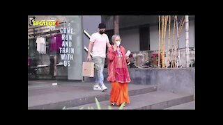 Jaya Bachchan with Grandson Agastya snapped at a Nike store | SpotboyE