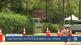 COVID-19 testing site opens at South County Civic Center in Delray Beach