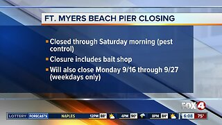 Fort Myers Beach pier closed for maintenance