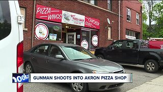 Workers startled after shots fired into Akron pizza shop