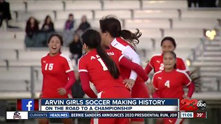 Arvin girls soccer team makes history