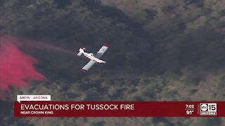 Evacuations issued for Tussock Fire near Crown King
